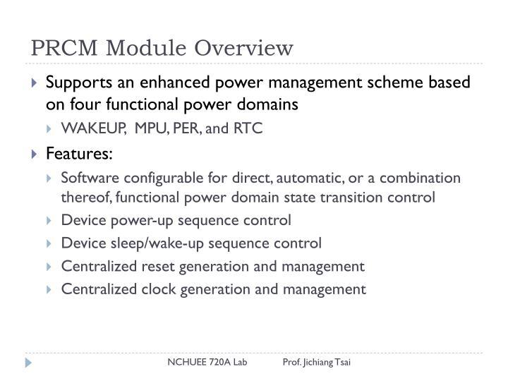 PRCM Module Overview