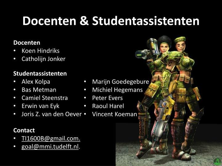 Docenten & Studentassistenten