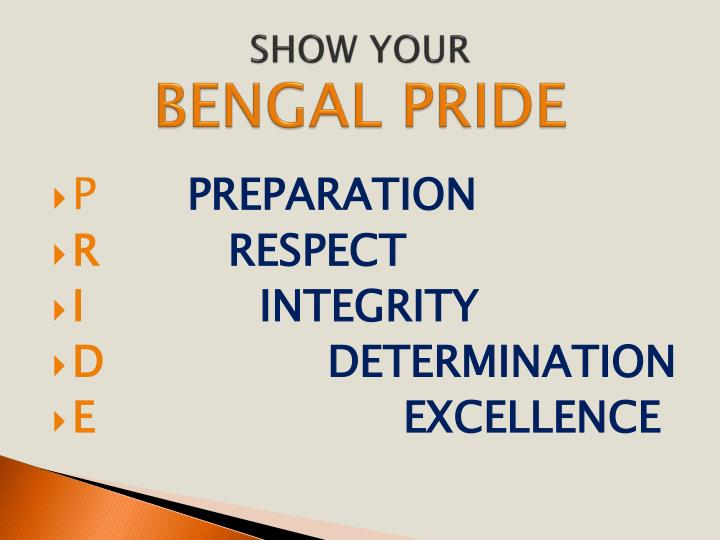 Show your bengal pride
