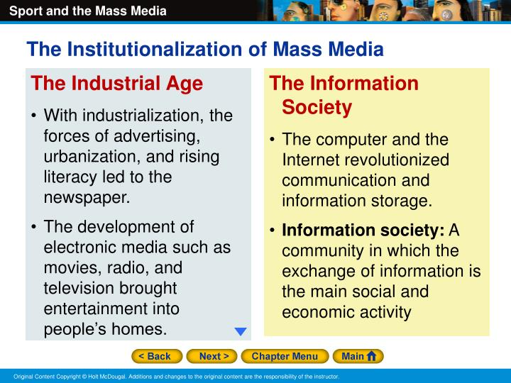 The Institutionalization of Mass Media