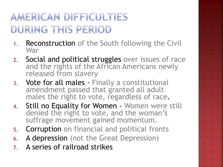 American Difficulties