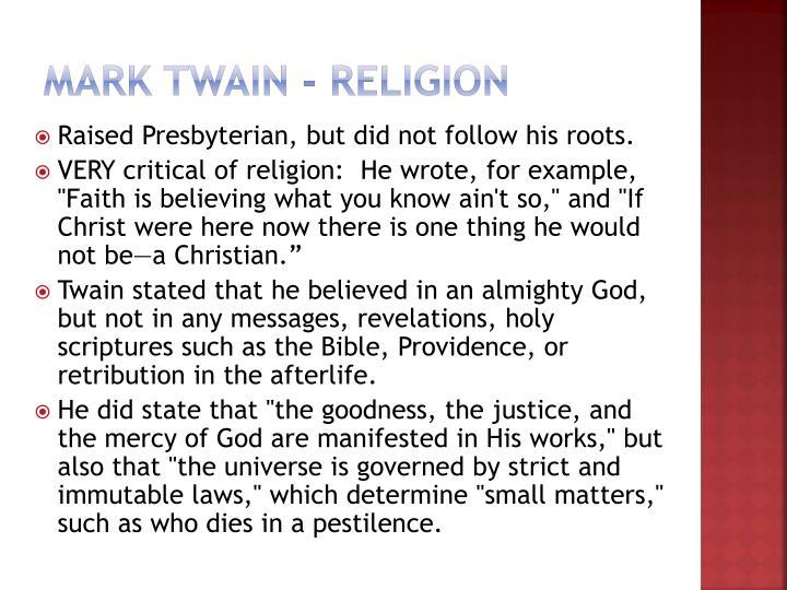 Mark Twain - Religion