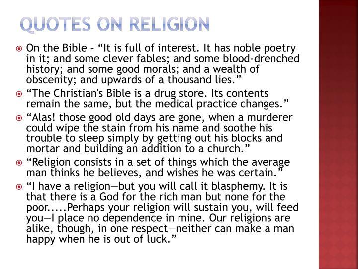 Quotes on Religion
