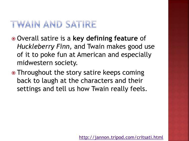 Twain and Satire