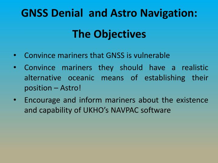 GNSS Denial  and