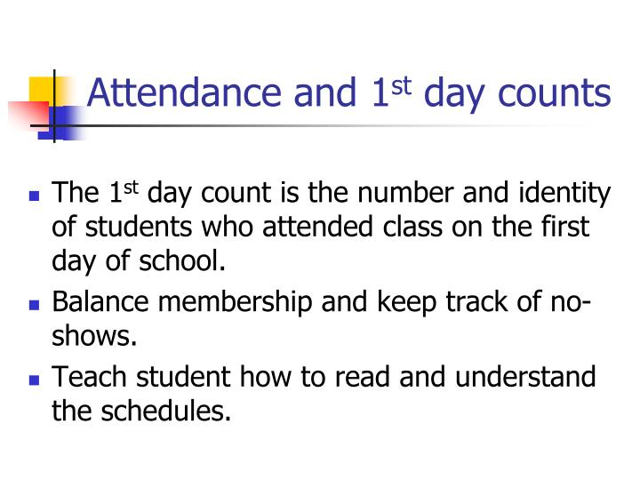 Attendance and 1