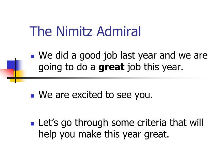 The Nimitz Admiral