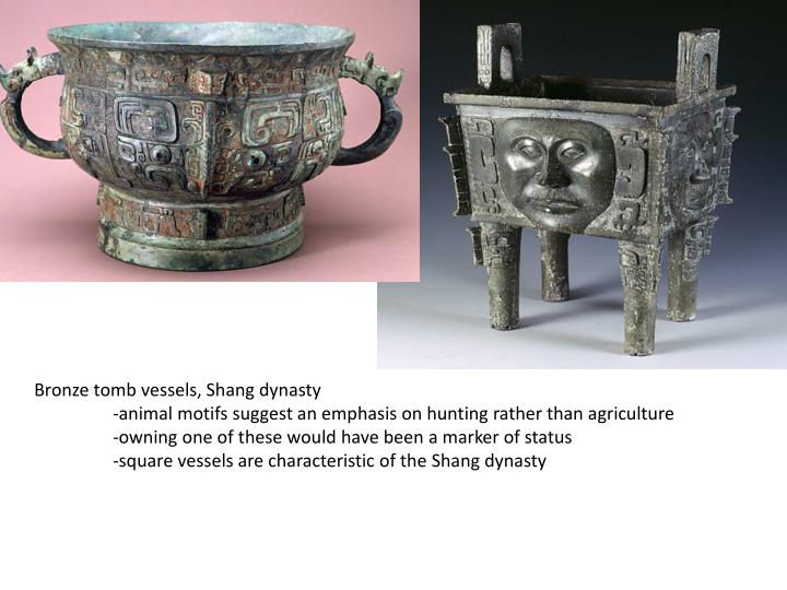 Bronze tomb vessels, Shang dynasty