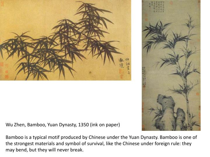 Wu Zhen, Bamboo, Yuan Dynasty, 1350 (ink on paper)