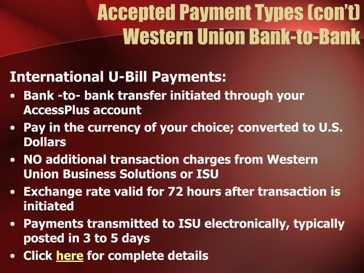 Accepted Payment Types (