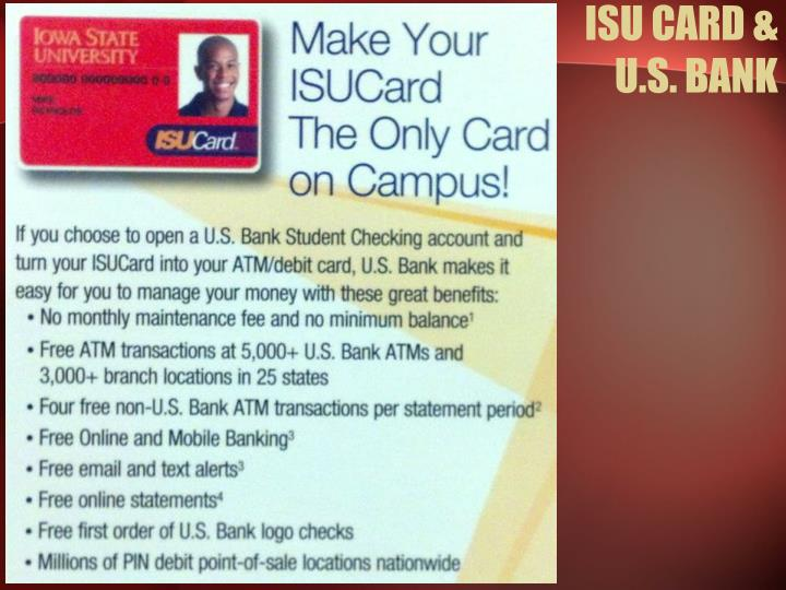 ISU CARD & U.S. BANK