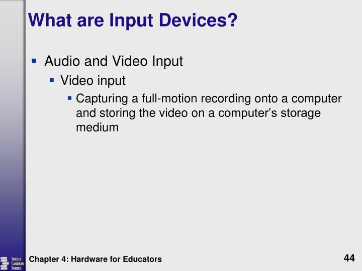 What are Input Devices?