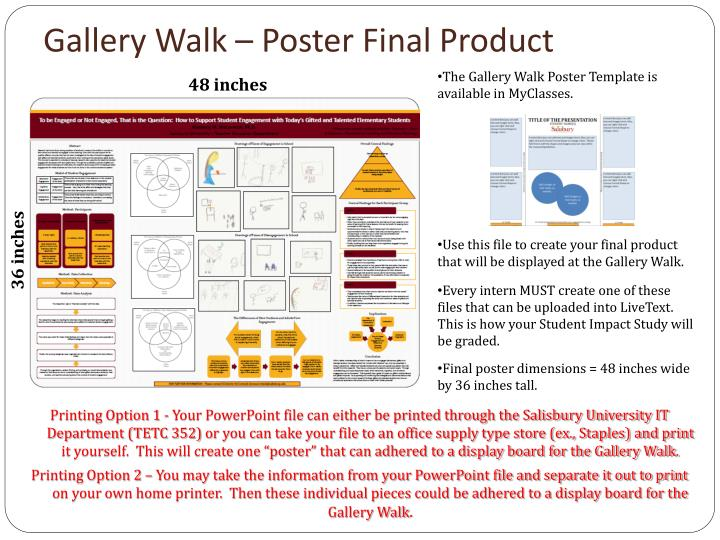 Gallery Walk – Poster Final Product