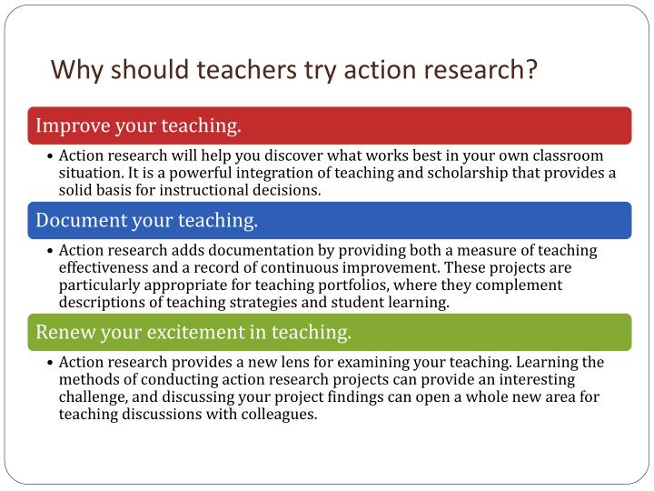 Why should teachers try action research?