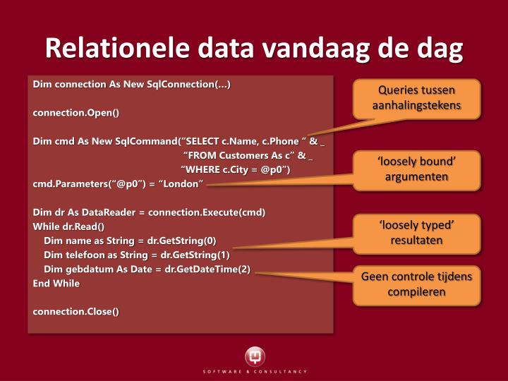 Relationele data vandaag de dag