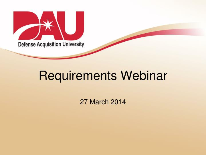 Requirements Webinar