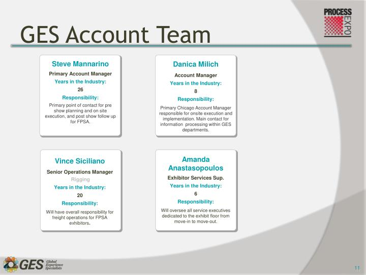 GES Account Team