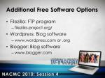 additional free software options2