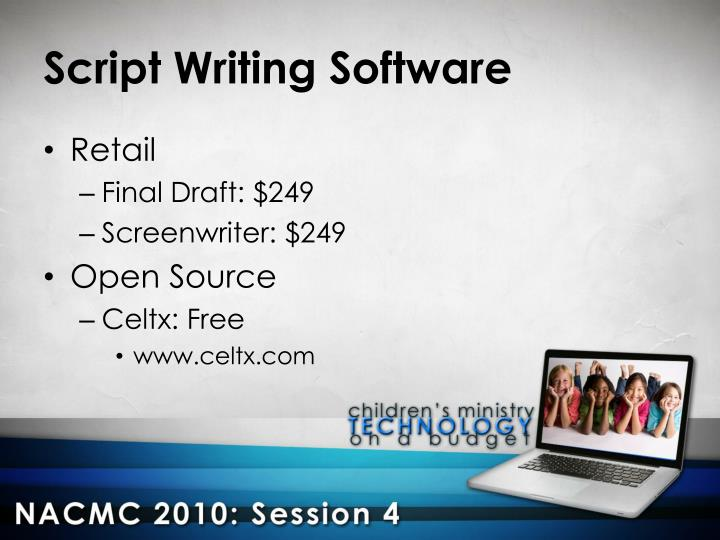 Script Writing Software