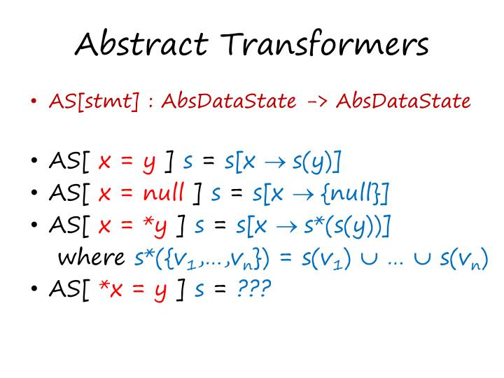 Abstract Transformers