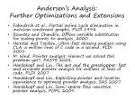 andersen s analysis further optimizations and extensions