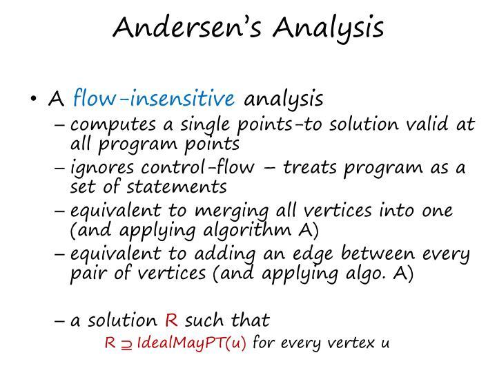 Andersen's Analysis