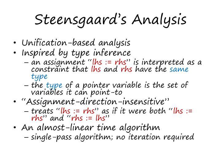 Steensgaard's