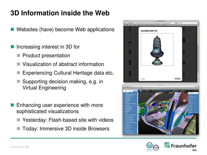 3D Information inside the Web