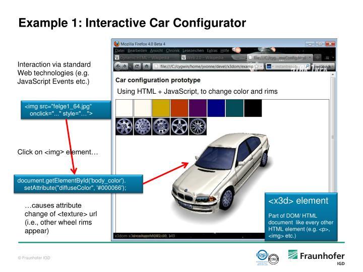 Example 1: Interactive Car Configurator