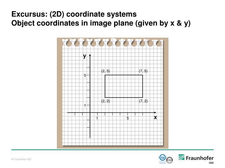 Excursus: (2D) coordinate systems