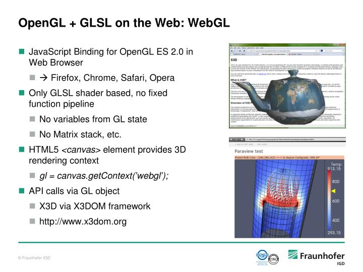 OpenGL + GLSL on