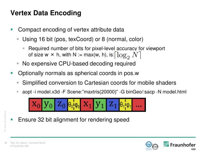Vertex Data Encoding