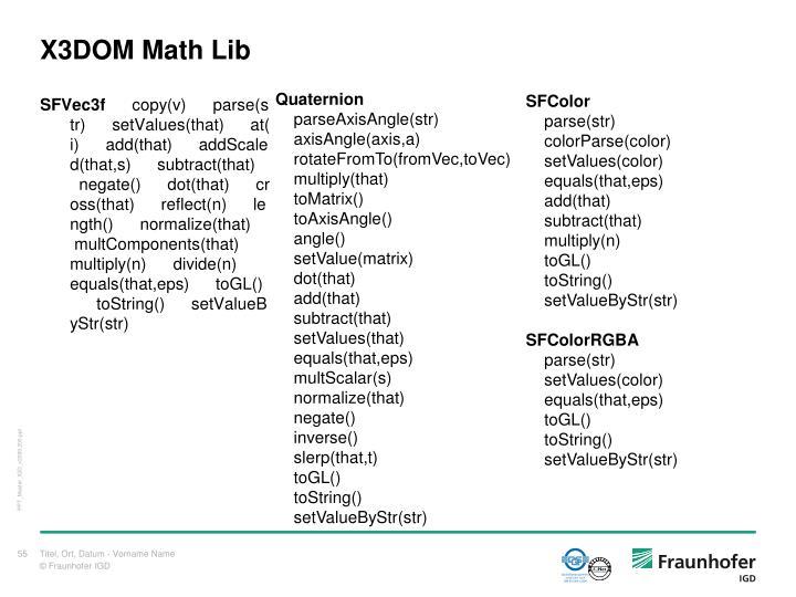 X3DOM Math Lib