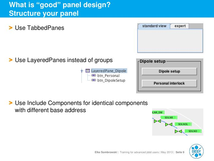"What is ""good"" panel design?"