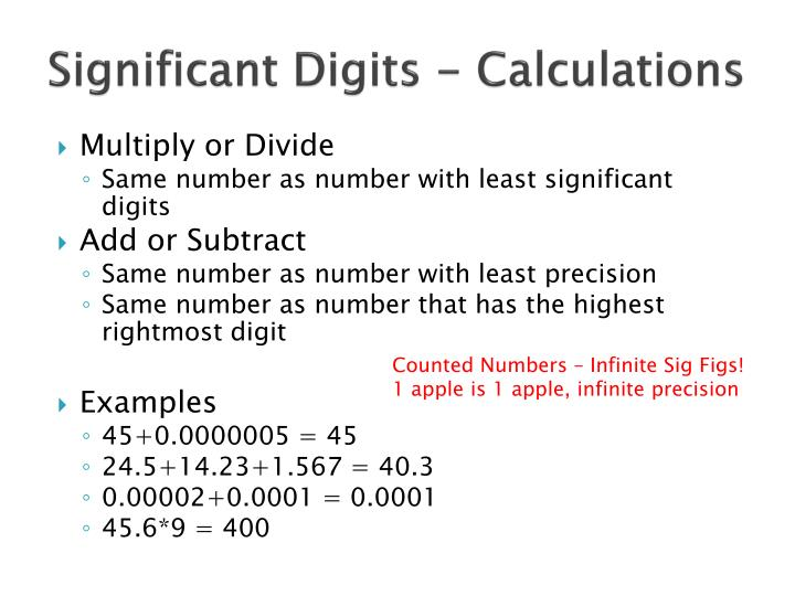 Significant Digits - Calculations