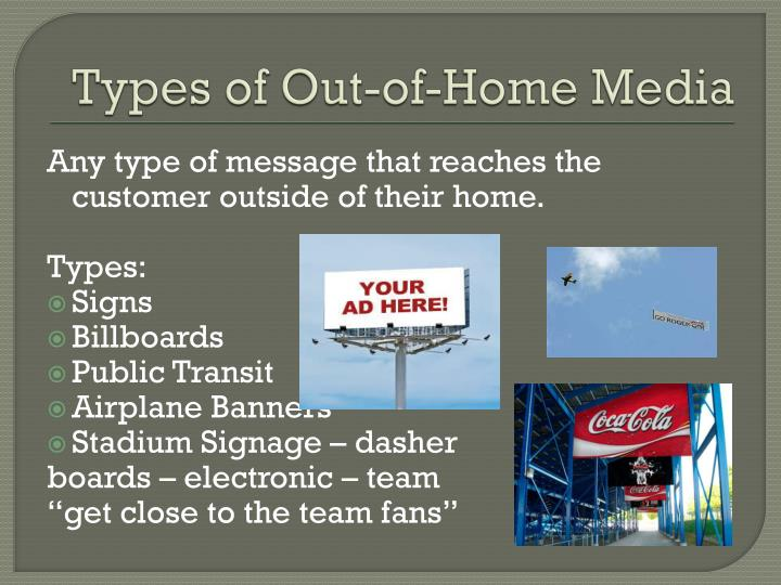 Types of Out-of-Home Media