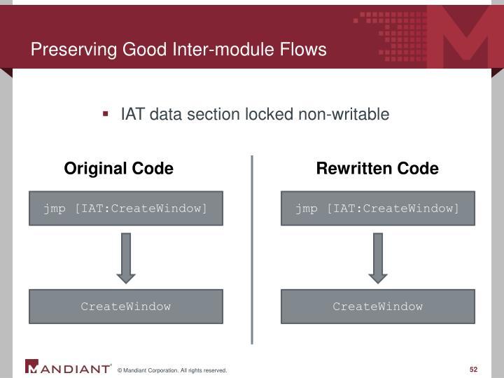 Preserving Good Inter-module Flows