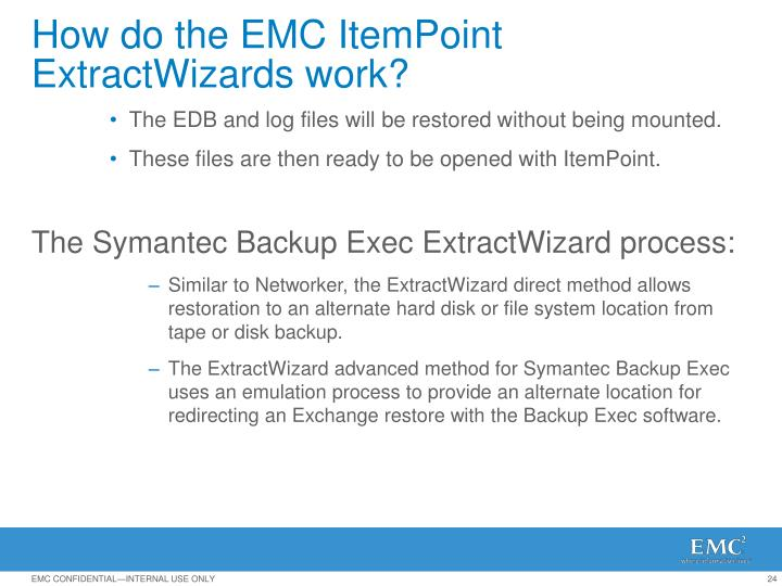 How do the EMC ItemPoint ExtractWizards work?