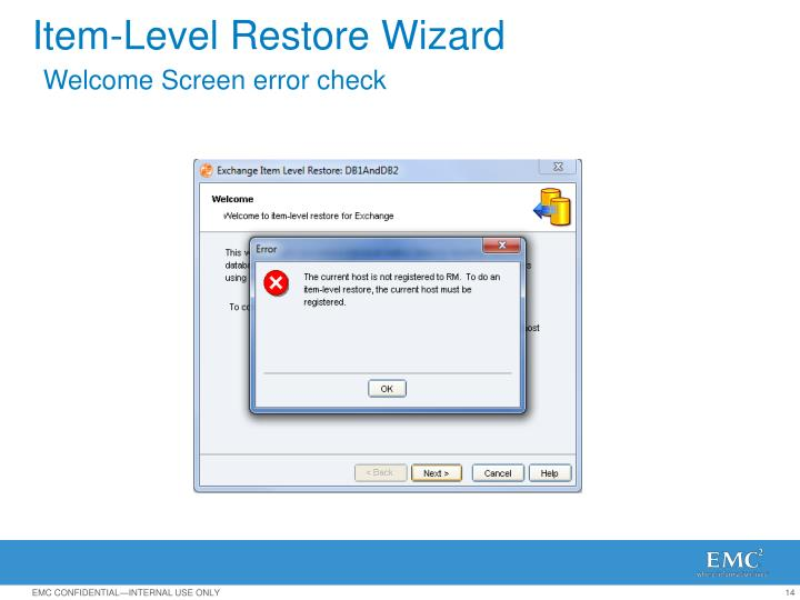 Item-Level Restore Wizard