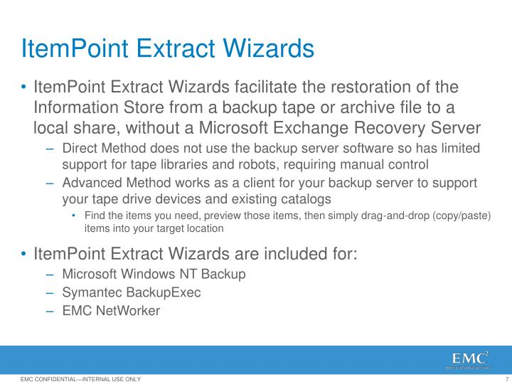 ItemPoint Extract Wizards