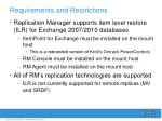 requirements and restrictions