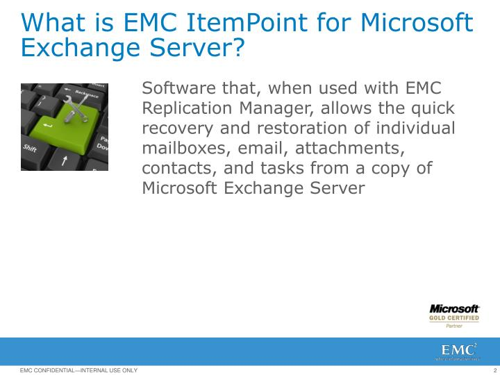 What is EMC ItemPoint for Microsoft Exchange Server?