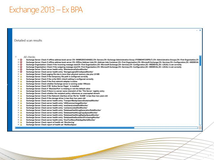 Exchange 2013 – Ex BPA