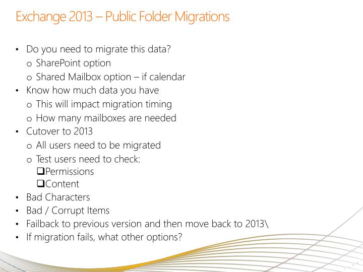 Exchange 2013 – Public Folder Migrations