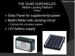 the quad chronicles mobile landing platform power