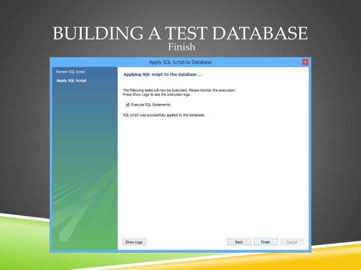 Building a test database
