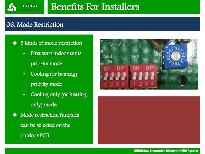 Benefits For Installers