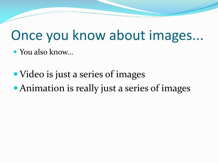 Once you know about images...