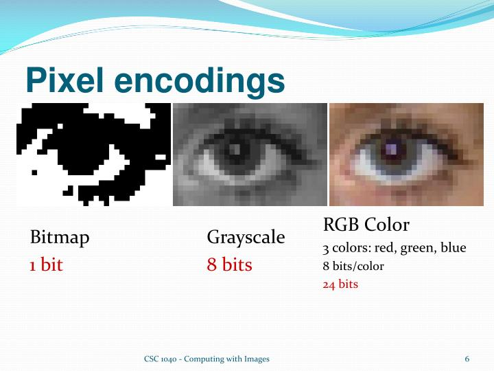 Pixel encodings