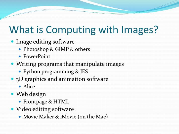 What is computing with images